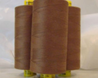 GUTERMANN Mara 100 Polyester Thread ONE (1) Spool 1,094yd Golden Brown 851
