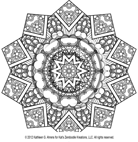 60 Star Coloring Pages ✨ Customize And Print Ad-free PDF | 587x570