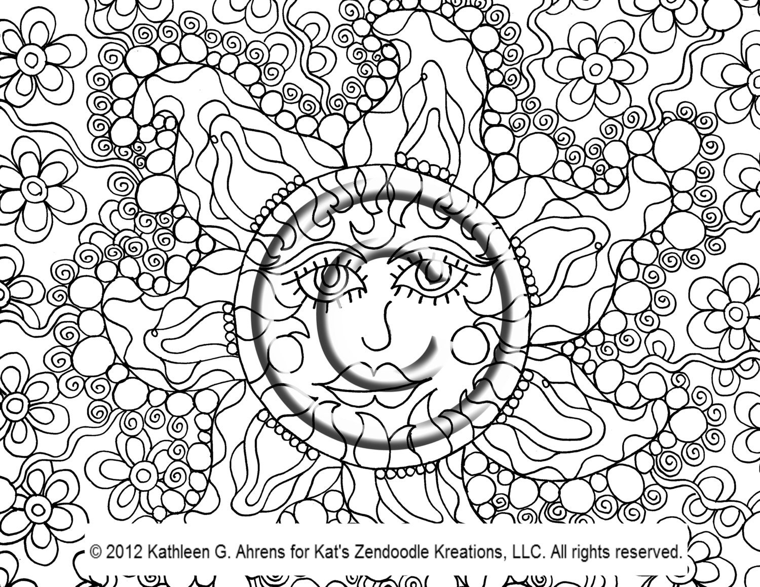psychedelic sun coloring pages faxecolorhd - Psychedelic Hippie Coloring Pages