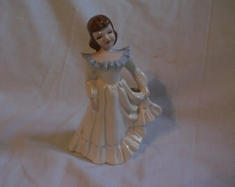 Vintage Florence Figures Ceramics California Pottery Girl Vase Figurine