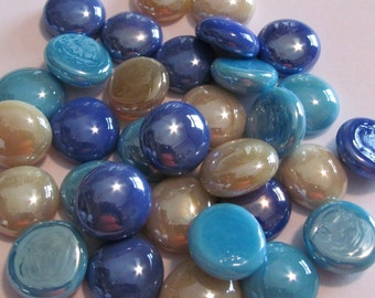 Tranquility Collection of Gems, Nuggets, Flat Backed  Mosaic Tiles/Glass/Cabochons 50 ct.