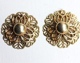 Filigree Flower Circles (2x)