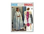 Vintage 1960s Vogue Paris Original Dress and Cape Sewing Pattern Yves St. Laurent Empire Evening Dress Opera Cape Vogue 1897 Bust 31