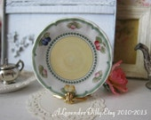 French Garden Plate for Dollhouse