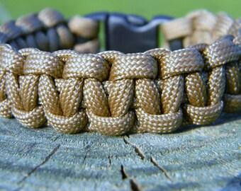 Coyote Tan Paracord Survival Bracelet Father Men's Graduation Gift