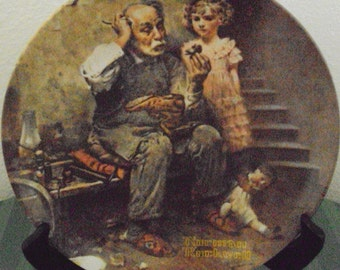 The Cobbler, a Norman Rockwell Collectors Plate