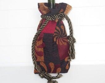 Hippie Bohemian Wine Bag Gift Bag Flower Chenille