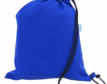 Kids PE Bags, Shoe Bags, drawstring Bag - Blue
