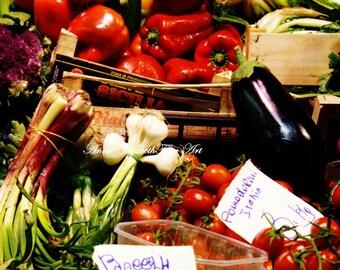 Italy Print,Fruit, Vegetable, Market, Italian Decor,Tuscan Print,Tuscany, Food Photography,Kitchen Art,Colorful,Fall Colors,Autumn,Farmhouse
