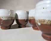 Vintage Studio Pottery, Warren MacKenzie, Minnesota Mingei, Yunomi, set of 4
