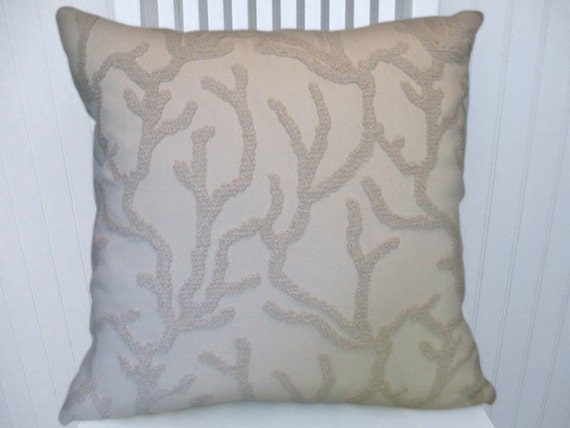 22x22 Decorative Pillows : Items similar to Off White Chenille Decorative Pillow Cover---18x18 or 20x20 or 22x22 ...