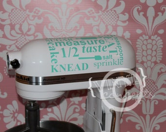 Kitchen aid mixer vinyl decal - Vinyl Wall Art
