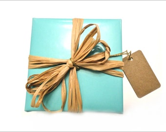 Tiffany blue wrapping