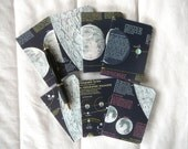 Vintage Lunar Map Covered Mini Composition Notebook