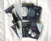 Vintage Lunar Map Covered Mini Composition Notebook