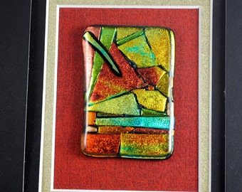 Abstract Fused Glass Sculpture OOAK Small Sculpture Glass Art