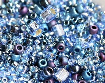 Toho Seed beads MIX - Periwinkle Blue - N 3204, rocailles, glass beads - 10g - S241
