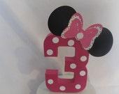 Minnie Mouse Age Centerpiece