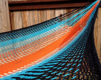 Mexican inter-looping hammock,double size