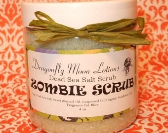 ZOMBIE SCRUB - Dead Sea Salt Body Scrub - 4oz -