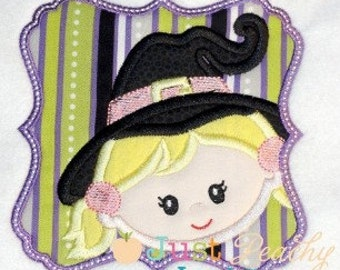 Witch Patch for Halloween Applique Machine Embroidery Design Buy 2 for 4! Use Coupon Code 50OFF