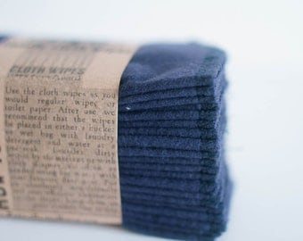 Cloth Wipes -  Cloth Diaper Wipes - 10 Navy Blue - Reusable Cloth Wipes -Family ClothWipes