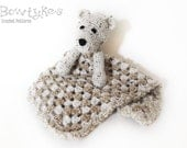 Bear Lovey CROCHET PATTERN instant download - blankey, blankie, security blanket