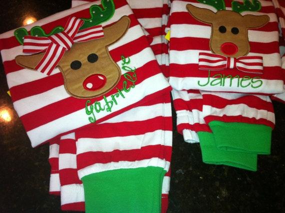 Reserved Custom Christmas Pajamas Pre Order Pesonalized