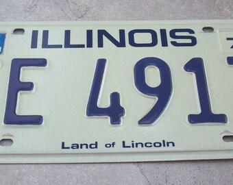 Vintage 1979 Illinois License Plate  Illinois License Plate