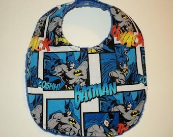 Superhero Bib, Baby Shower Gift, Batman Bib, Super Hero Gift, Baby Boy Bib, Newborn Bib, Baby Toddler Bib, Geek Baby Gift, Nerd Baby Gift