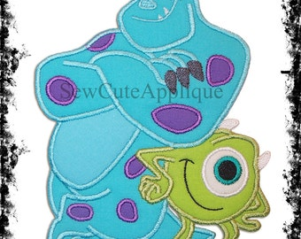 Sulley & Mike Monsters Inc No Sew Applique Patch