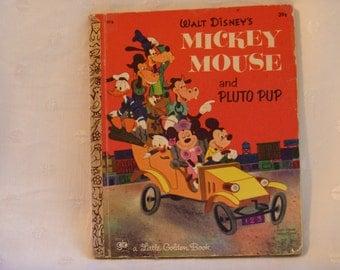 Walt Disneys Mickey Mouse Pluto Pup A Little Golden Book 1971