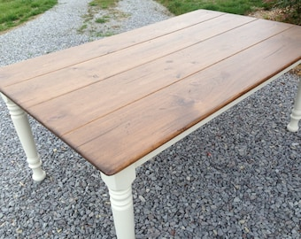 White Farmhouse Table, Kitchen Table, Dining Room Table