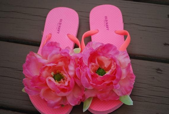 Neon Pink Bahama Flip Flops