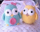 PATTERN Crochet Owl Toy Stuffed Animal Amigurumi
