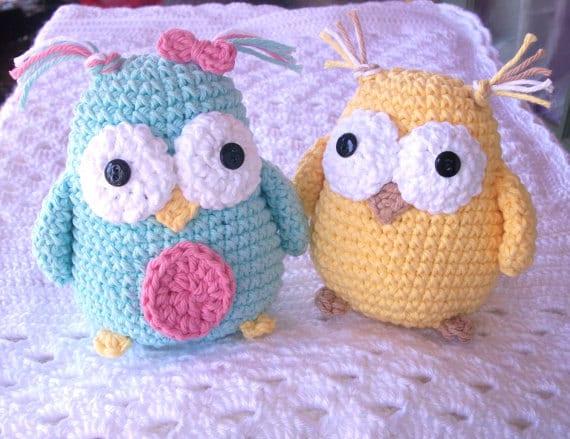 Free Crochet Pattern For Pot Holder Doll : PATTERN Crochet Owl Toy Stuffed Animal Amigurumi by ...