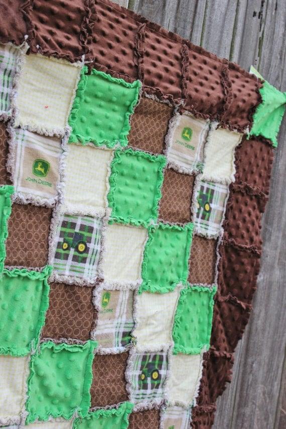 Jd Handmade Creations: CUSTOM JOHN DEERE Rag Quilt/Blanket! Perfect Baby Shower