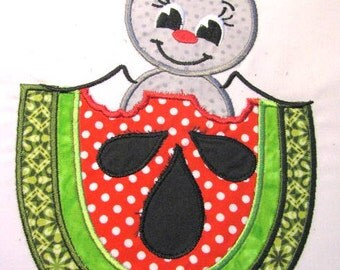 Picnic Ant With Watermelon Machine Applique Embroidery Design - 4x4, 5x7 & 6x8