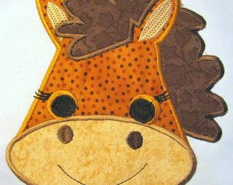 Horse Farm Animal Face Machine Applique Embroidery Design - 5x7 & 6x8