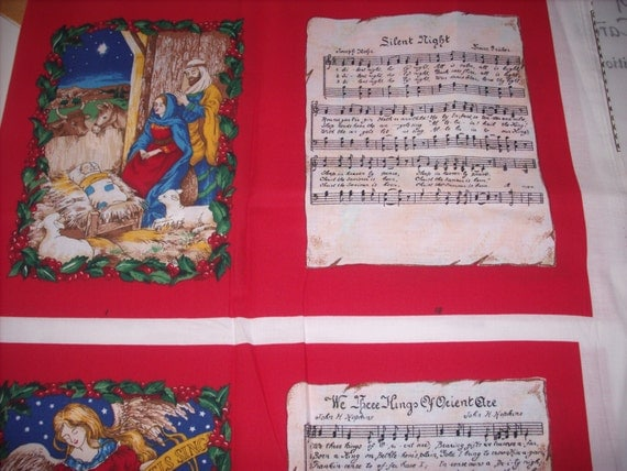 Cloth storybook panel to make christmas carols from for Build storybook