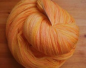 Creamsicle - Hearthside Fibers Champagne Lace - Hand Dyed Merino/Silk Lace Weight Yarn