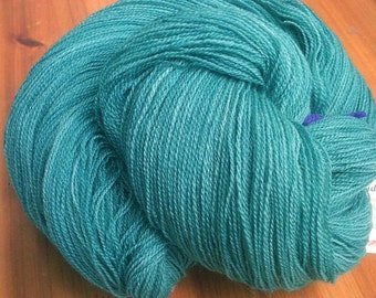 Teal We Meet Again - Hearthside Fibers Champagne Lace - Hand Dyed Merino/Silk Lace Weight Yarn