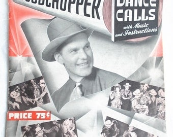 Vintage Sheet Music Book Arkansas Arkie Woodchopper Square Dance Calls1940 US Shipping Included