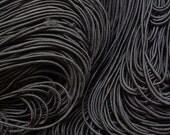 25 metres of 1mm Black Elastic String for beading