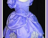 Sofia The First Ball gown. Baby to Toddler dress.
