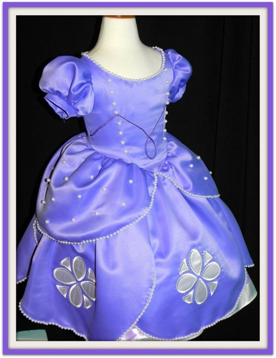 Items similar to Sofia The First Ball gown. Sizes 8,9,10,11,12 girls ...
