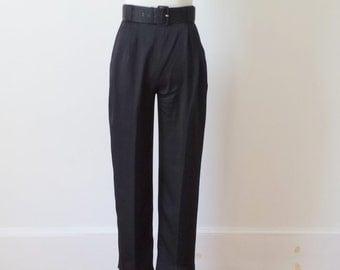 Vintage Christian Dior Black Highwaisted Pants
