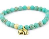 Elephant Bracelet, Turquoise