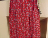 Paisley Print Skirt and Slacks Set--New Vintage With Tags by Chaus