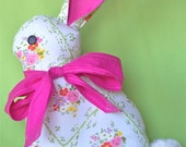 Bunny Pillow with Pink  Bow